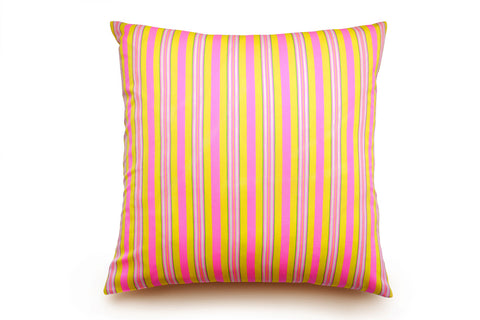 Hoi Fan Stripe - Yellow and Pink