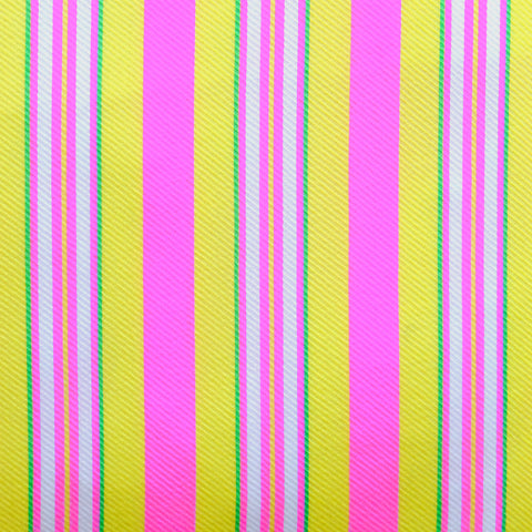 Large Hoi Fan Stripe - Yellow and Pink