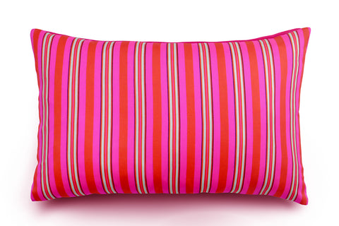 Hoi Fan Stripe - Red and Pink