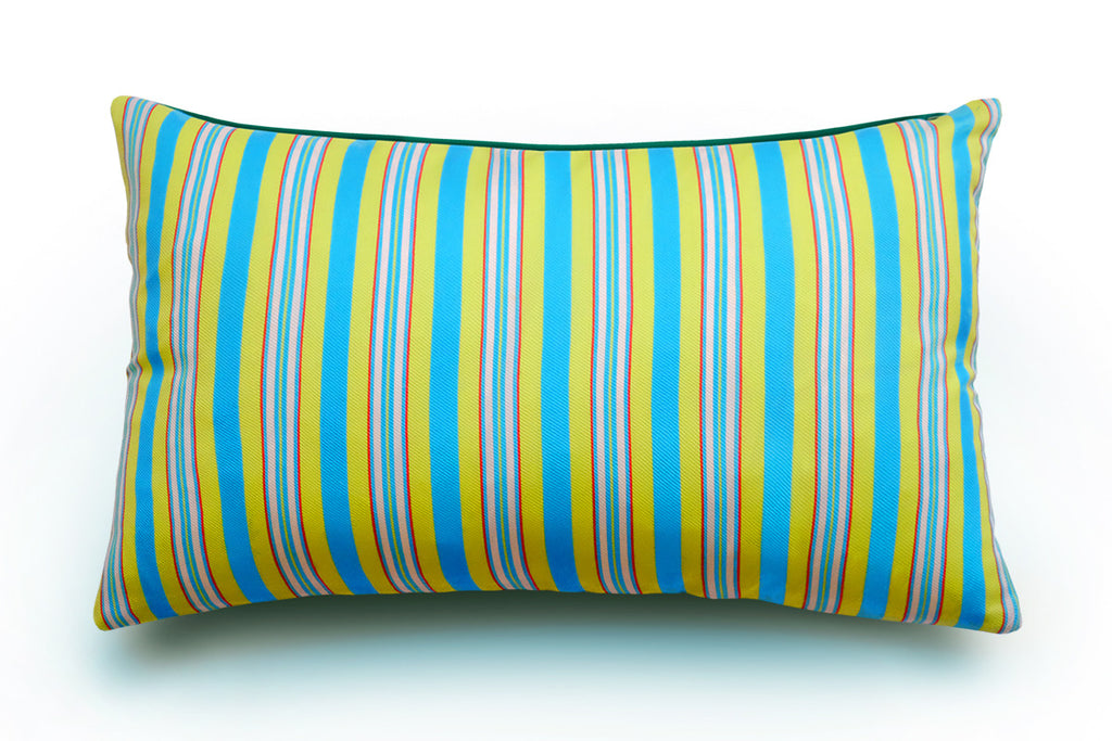 Hoi Fan Stripe - Blue and Yellow