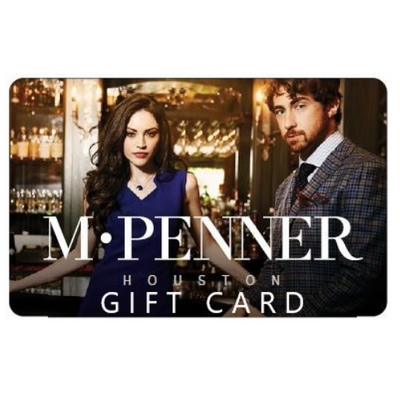 M PENNER Gift Cards are available in any denomination.