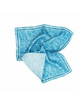 Blue | Gingham Reversable Pocket Square