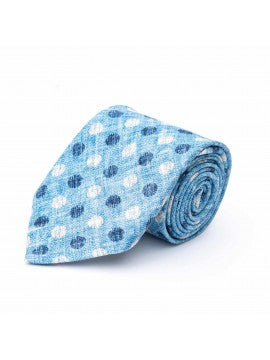 Light Blue | White Dots Tie