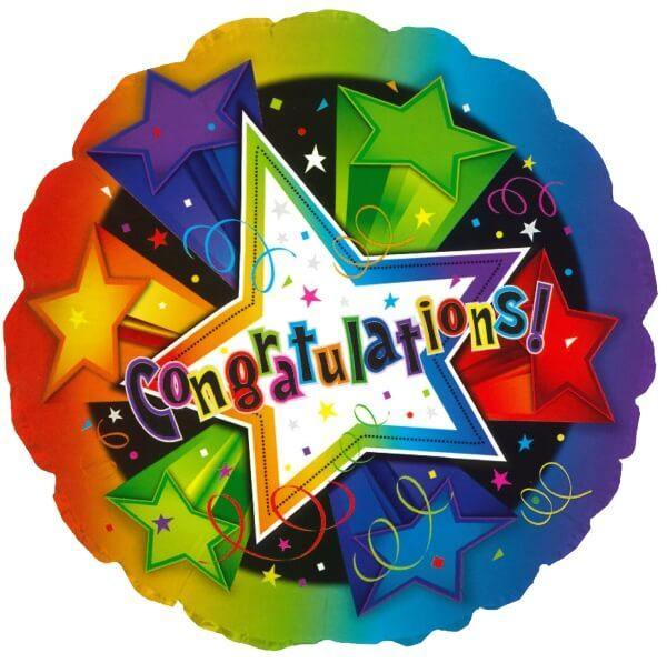 Star Burst Congratulations Balloon