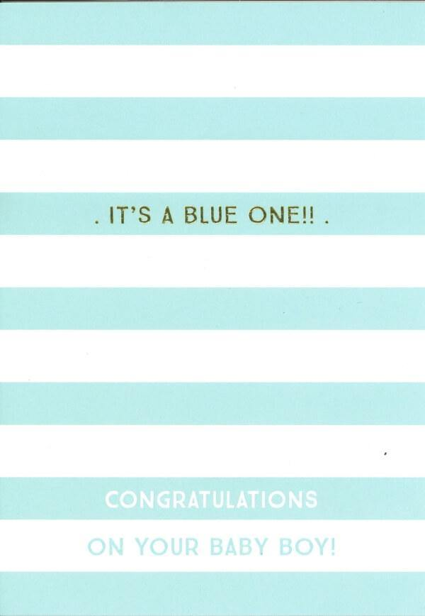It's A Blue One Card