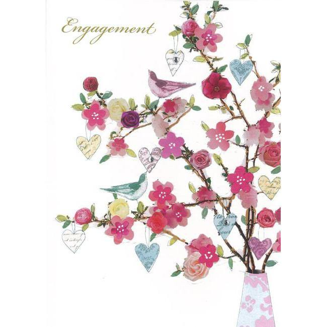 Pretty Engagement Greeting Card