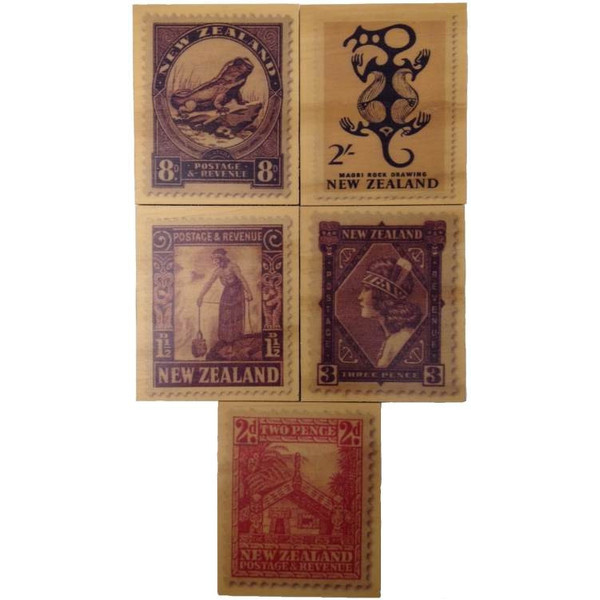 Wooden Postage Tile - Small