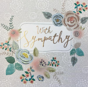 With Sympathy Flower Card