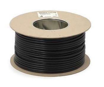 Amdex 4 Core Flat Telephone Cable 100M Roll (Black)