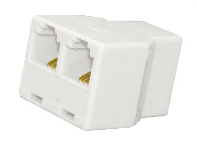 Modular Coupler 3 Way Socket 8P8C