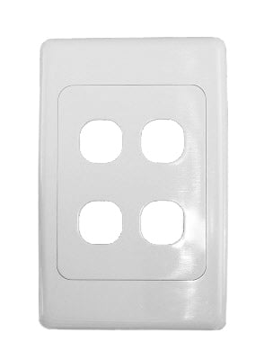 Clipsal 2000 Series 4 Gang Wall Plate