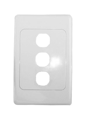 Clipsal 2000 Series 3 Gang Wall Plate