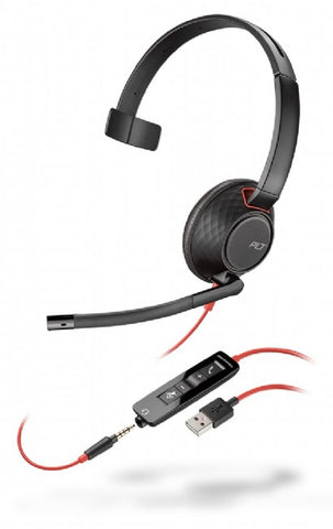 Plantronics Blackwire C5210 Wideband Monaural Headset (USB-A)