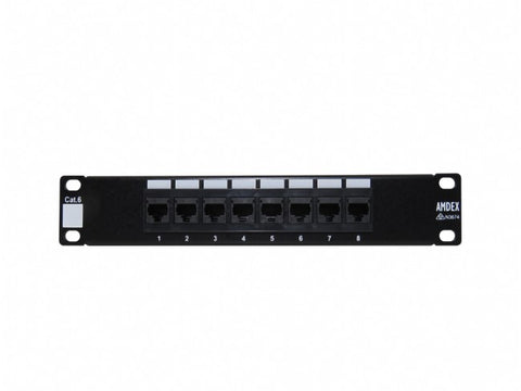"8 Port Cat 6 Patch Panel for 10"" Cabinets"