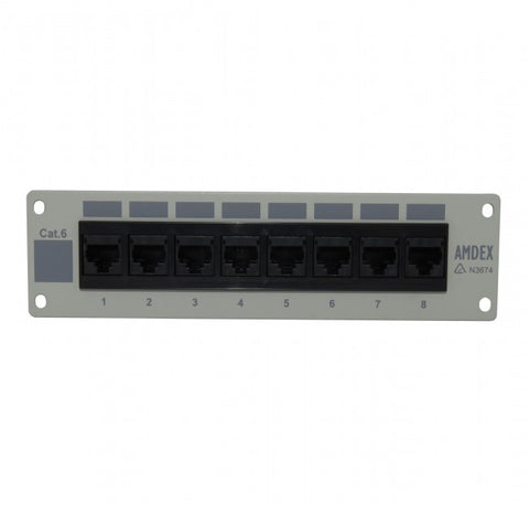 Cat 6 8 Port Recessed flush Mount Patch Panel