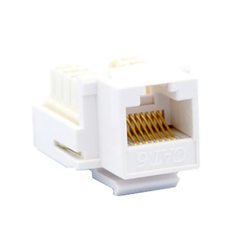 Cat 6 8P8C 90 Degree Keystone Jack - White