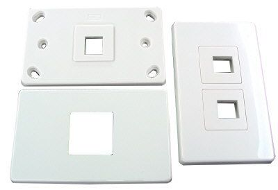 Double (2) Gang Keystone Flush Plate
