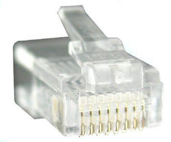RJ45 8P8C Modular Plug Round Solid/Stranded (Pack OF 100)