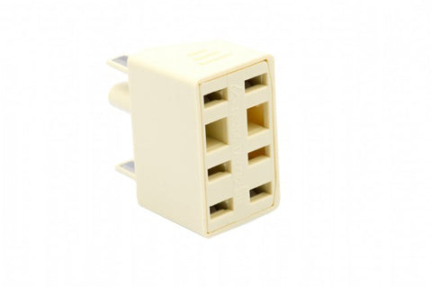 605 plug to 2 x 610 Socket Double Adapter