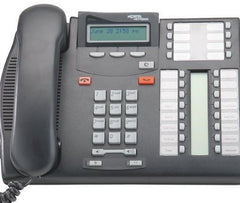 COMMANDER NORTEL T7316E CHARCOAL / BLACK PHONE - REFURBISHED