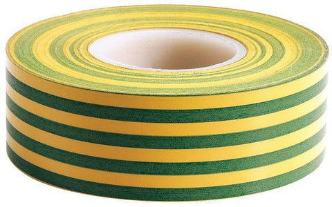 19mm PVC electrical tape 20m roll (Green/Yellow)