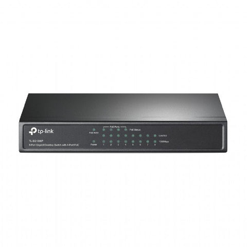 TP-Link 8 port Gigabit Desktop Switch with 4 Port PoE - TL-SG1008P