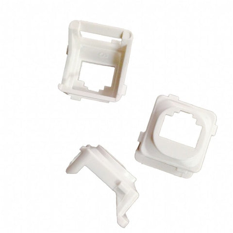 Keystone Adaptor Bezel Clipsal (White) - Pack of 10