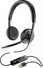Plantronics Blackwire C520-M Lync Foldable Binaural USB Headset Sensor tech & Case
