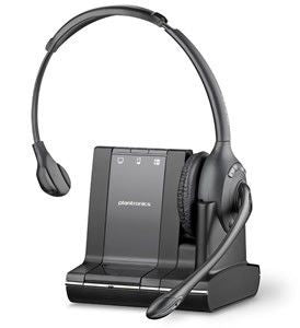 Plantronics W710-M/Lync Savi 3-in-1 Over the head Monaural DECT with G616 Limiting