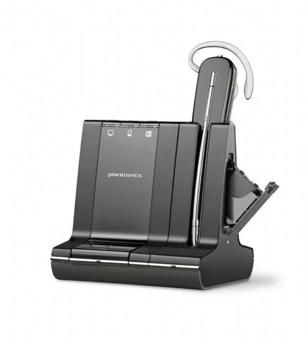 Plantronics W745-M Savi W745M / Lync Convertible DECT with Deluxe Charge Cradle & Spare Battery