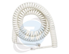 5m White Curly Cord - Generic