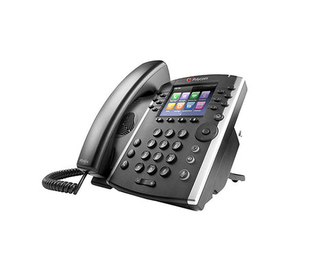 Polycom VVX 410 12-line Desktop Phone Microsoft Skype for Business Edition  with HD Voice, GigE and Polycom UCS SfB License. Ships without power supply.