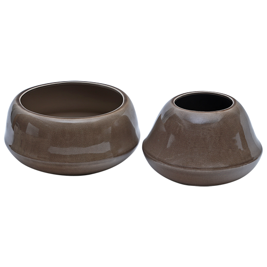 CP3C1 - Artefact - Ceramic Table top planter - Cappucino