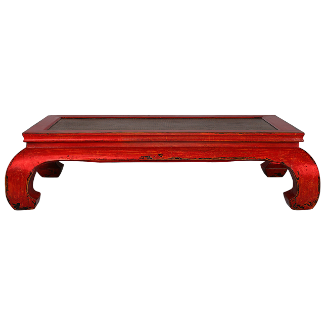 Fine Kktr1 Korean Red Distressed Coffee Table Frangipani Furniture Pdpeps Interior Chair Design Pdpepsorg