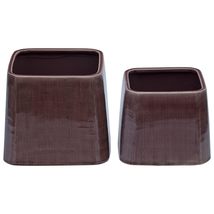 CP3PS1- Artefact -Ceramic Table top planter -  Plum Square