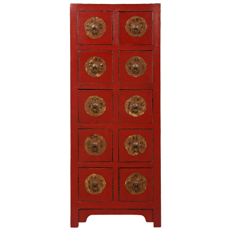 CA10D1 Chinese Antique Double Drawer Unit