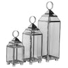IBPLb  Chrome and Glass Hurricane Lamps
