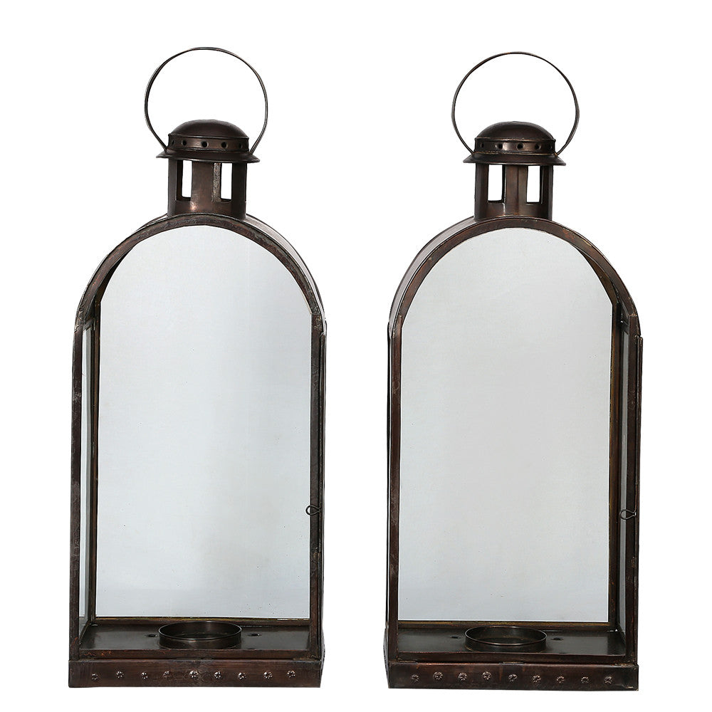 IBPLD Brushed bronze Dome Hurricane Lamp