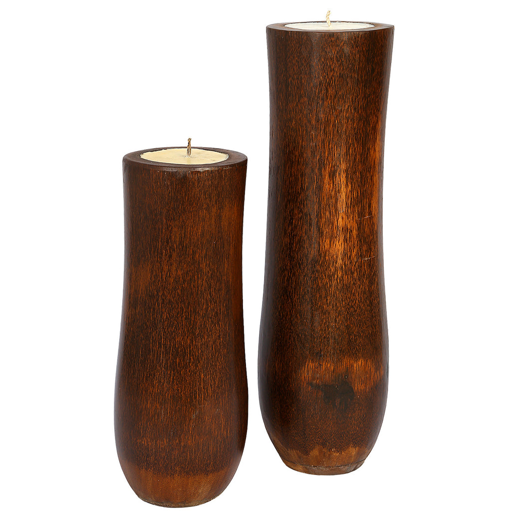 IJTCHL Coconut Shell Candle Holders