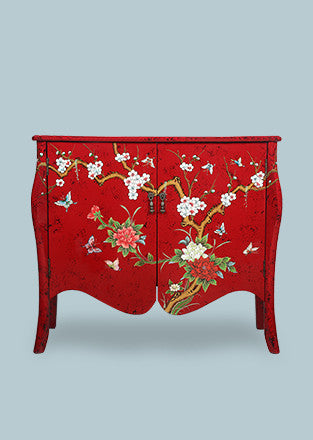 Handpainted Lacquer Dresser