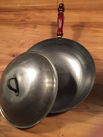 SOHO Foundry :: Solid Steel Wok with Lid - made by the Bilney brothers in Ballarat