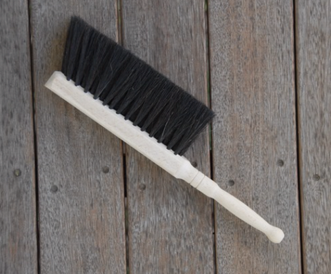 Broom for Dustpan - Beechwood with horsehair bristles - Made in Germany