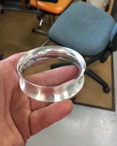 Silversmithing :: Anticlastic Bangle Workshop with Chris Maron :: 19 April 2020