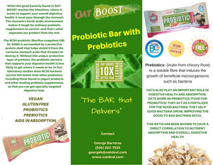 Probiotic Bar with prebiotics