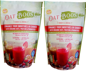 2 OAT-BOOST 15 serving bags (300g) each.  Choose the different options in units. Free shipping in Canada