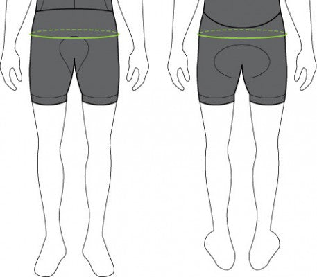 Men's Cycling Shorts Sizing Chart