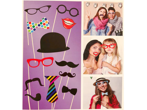 12-pc Basic Photo Booth prop sticks