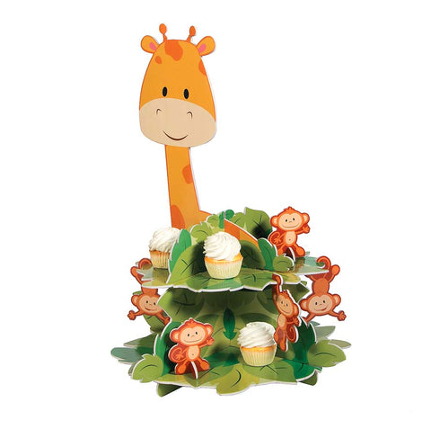 Zoo Birthday Cupcake Stand