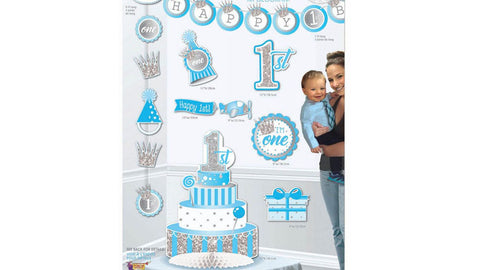 1st Birthday Blue Decorating Kit