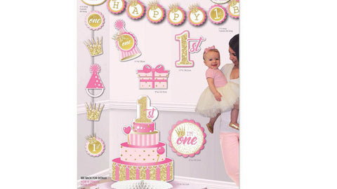 1st Birthday Pink Decorating Kit
